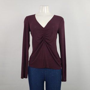 Babaton Burgundy Knit Top Size M